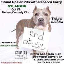 ST. LOUIS and CHICAGO STAND UP FOR PITS! GET TO THESE!