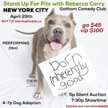 NEW YORK Stand Up For Pits APRIL 29th!!