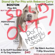 BOSTON Stand Up For Pits SOLD OUT!!!