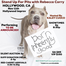 TICKETS for Stand Up For Pits HOLLYWOOD on sale TOMORROW!!!!
