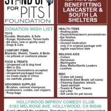 SUFP Donation Drive HOLLYWOOD!!!