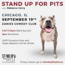Get CHICAGO Stand Up For Pits tickets TODAY!!!